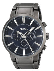 Fossil Men's FS4358 Gunmetal-Tone Stainless Steel Bracelet Watch
