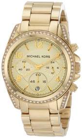 Michael Kors Golden Runway Watch with Glitz MK5166 [Watch] Michael Kors