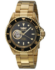 Invicta Men's 'Pro Diver' Automatic Stainless Steel Casual Watch, Color:Gold-Toned (Model: 20436) …