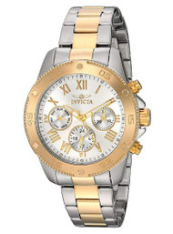 Invicta Women's 'Wildflower' Quartz Stainless Steel Casual Watch, Color:Two Tone (Model: 21733)