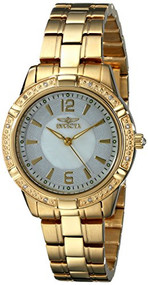 Invicta Women's 18034 Angel Diamond-Accented 18k Gold Ion-Plated Stainless ...