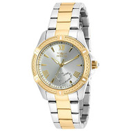 Invicta Women's Angel Gold-Tone Steel Bracelet & Case Quartz Silver-Tone Dial Analog Watch 20323