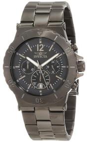 Invicta Men's 1268 Specialty Chronograph Black-Dial Gunmetal Watch