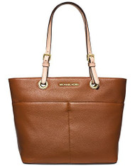 Michael Kors Bedford Top Zip Pocket Tote (Luggage)