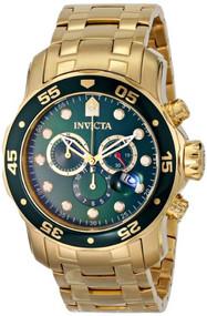 Invicta Men's 0075 Pro Diver Chronograph 18k Gold-Plated Watch [Watch] Invicta