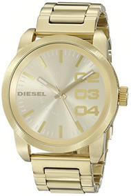 Diesel Men's DZ1466 Double Down Series Analog Display Analog Quartz Gold Watch