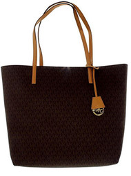 Michael Kors Hayley Large Logo Tote Brown/Peanut 30F6GH3T2V-972