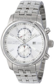 Invicta Men's 0248 II Collection Stainless Steel and Silver-Tone Dial Brace...