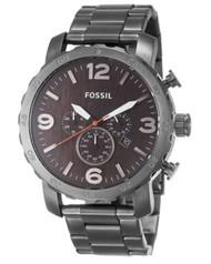 Fossil Men's JR1355 Nate Analog Display Analog Quartz Grey Watch