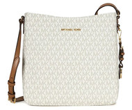 MICHAEL KORS Jet Set Travel Large Logo Messenger, Vanilla 30H6GTVM3V-150