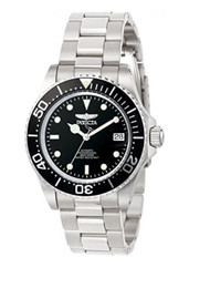 Invicta Pro Diver Men's Automatic Watch with Black Dial  Display and Silver S...