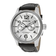 Invicta Men's 13009 I-Force Silver Textured Dial Black Leather Watch [Watch] ...