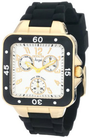 Invicta Women's 1301 Angel Collection Multi-Function Black Rubber Watch [Watc...