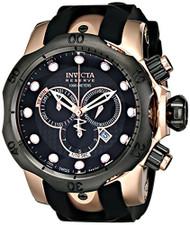Invicta Men's 0361 Reserve Collection Venom Chronograph Black Polyurethane Wa...