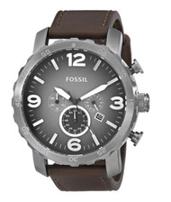 Fossil Men's JR1424 Nate Chronograph Leather Watch