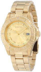 Invicta Women's 12820 Pro Diver Gold Dial Diamond Accented Watch [Watch] Invicta