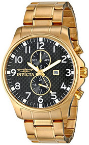 Invicta Men's 0382 II Collection 18k Gold-Plated Stainless Steel Watch [Watch...