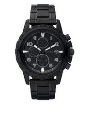 Fossil Men's Dean FS4646 Black Stainless-Steel Analog Quartz Watch [Watch] Fo...