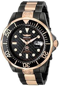 Invicta Men's 10643 Pro Diver Automatic Black Carbon Fiber Dial Two Tone Stai...