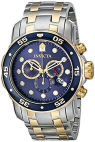 Invicta Men's 0077 Pro Diver Chronograph Blue Dial Watch [Watch] Invicta