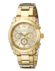 Invicta Women's 17901 Angel Analog Display Swiss Quartz Gold Watch