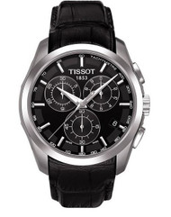 Tissot Men's Couturier T035.617.16.051.00 Black Leather Swiss Quartz Watch wi...