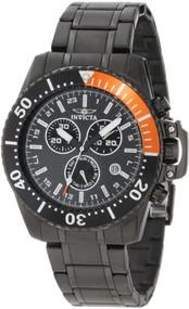 Invicta Men's 11290 Pro Diver Chronograph Black Carbon Fiber Dial Black Stain...