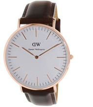 Daniel Wellington Men's 0109DW Classic Bristol Analog Display Quartz Brown Watch