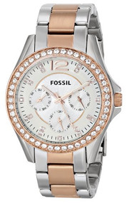 Fossil Women's ES2787 Riley Analog Display Analog Quartz Gold Watch [Watch] F...