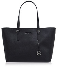 MICHAEL Michael Kors Jet Set Top-Zip Large Travel Tote Bag Black One Size