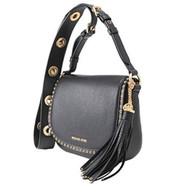 Michael Michael Kors Brooklyn Medium Leather Saddle Bag, Black 30F6ABNM8L-001