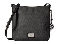 MICHAEL KORS NEW BLACK LOGO MESSENGER BAG No-Size $198 DBFL