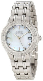 Invicta Women's 0266 II Collection Diamond Accented Stainless Steel Watch Inv...