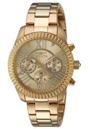 Invicta Women's 'Angel' Swiss Quartz Stainless Steel Casual Watch, Color:Gold-Toned (Model: 21423) …