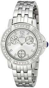 Invicta Women's 18963 Angel Analog Display Japanese Quartz Silver Watch