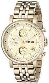 Fossil Women's Dress ES2197 Mother-Of-Pearl Stainless-Steel Quartz Watch [Wat...