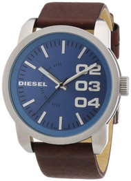 Diesel Herren-Armbanduhr XL Franchise-46 Analog Quarz Leder DZ1512
