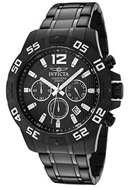 Invicta Men's 1505 Chronograph Black Ion-Plated Stainless-Steel Watch [Watch]...