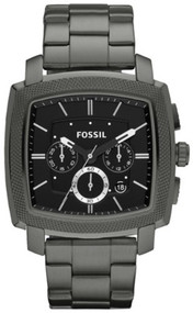 Fossil Watches, Men's Machine Chronograph Stainless Steel Watch - Smoke