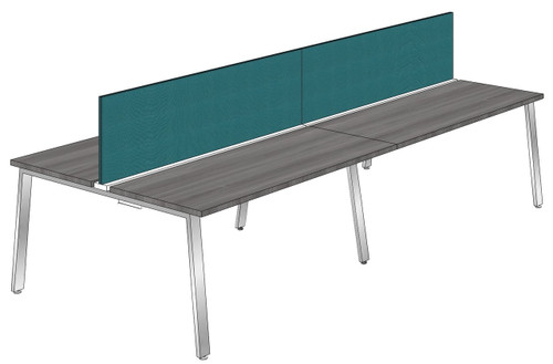 """Synapse 4-packs with 18"""" Tackable Privacy Panels, 60"""" Deep Bench"""