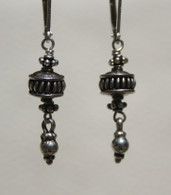 "mini ""onion dome"" silver earrings"