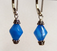 Aqua Rhomboid earrings
