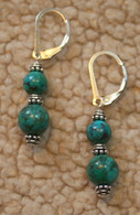 Turquoise double wrap earrings