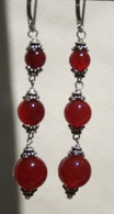 Triple Carnelian drop earrings