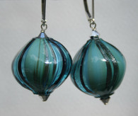 "Seafoam Murano glass ""sasso"" earrings"