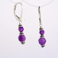 Classic double wrapped amethyst earrings