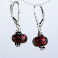 Red dichroic lampworked spheres