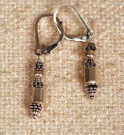 Double wrapped Thai and Turkish silver earrings