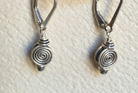 Small Balinese sterling silver spiral earrings