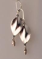 Silky smooth Thai silver leaf shaped earrings
